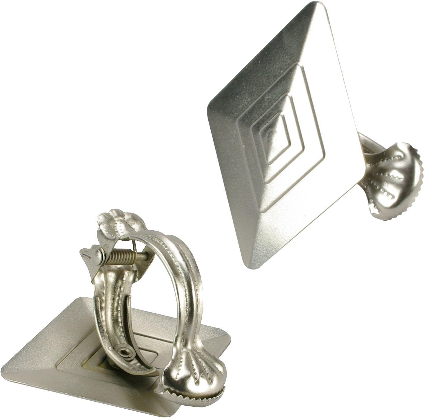 donauklammer liedeco rhombus f r gardinen vorh nge 2 st ck. Black Bedroom Furniture Sets. Home Design Ideas