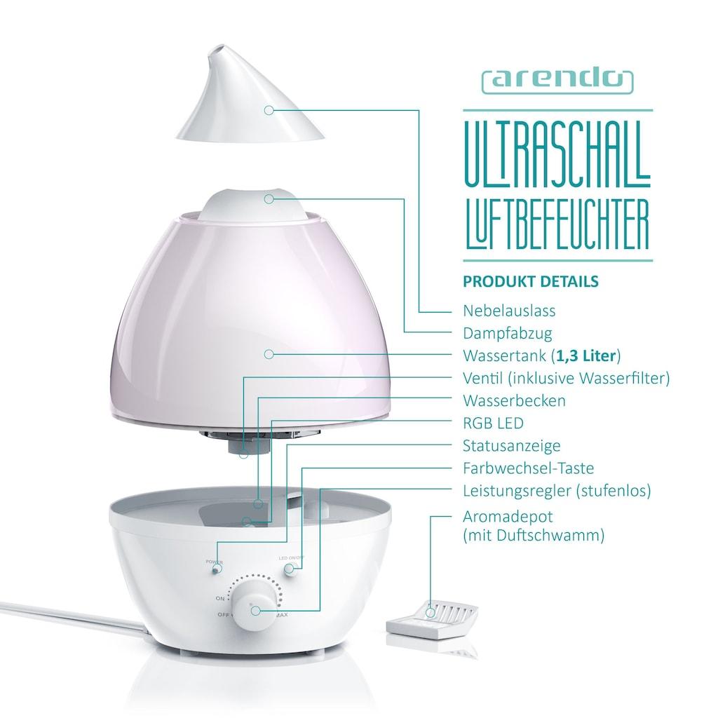 Arendo Raumbefeuchter mit Ultraschall Technologie & LED-Farbwechsel