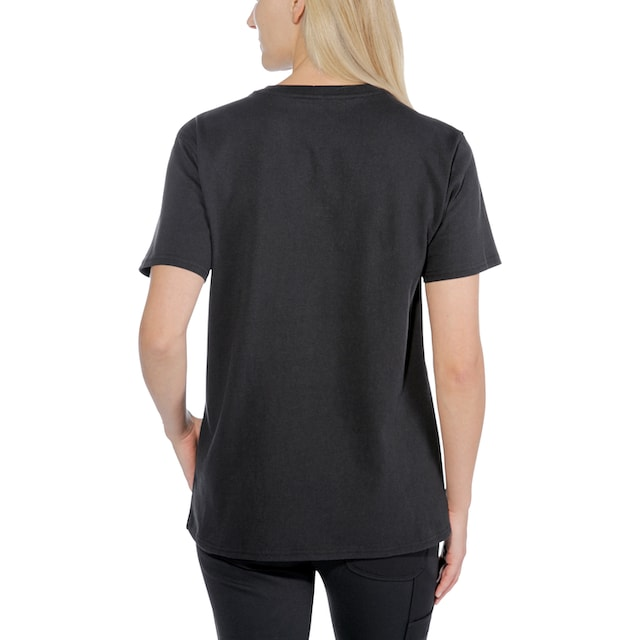 CARHARTT T-Shirt »LOGO GRAPHIC S/S«, BLACK Damen