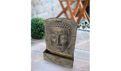 HEISSNER Set: Gartenbrunnen »BUDDHA LED«, BxTxH: 49x19x78 cm, grau kaufen