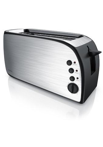 Arendo Automatik 4-Scheiben Langschlitz Toaster mit Brötchenaufsatz kaufen