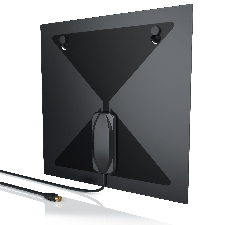 Aplic digitale DVB-T2 Antenne (flach) für TV/Radio »IEC (Koax)-Stecker / gute Empfangsleistung«