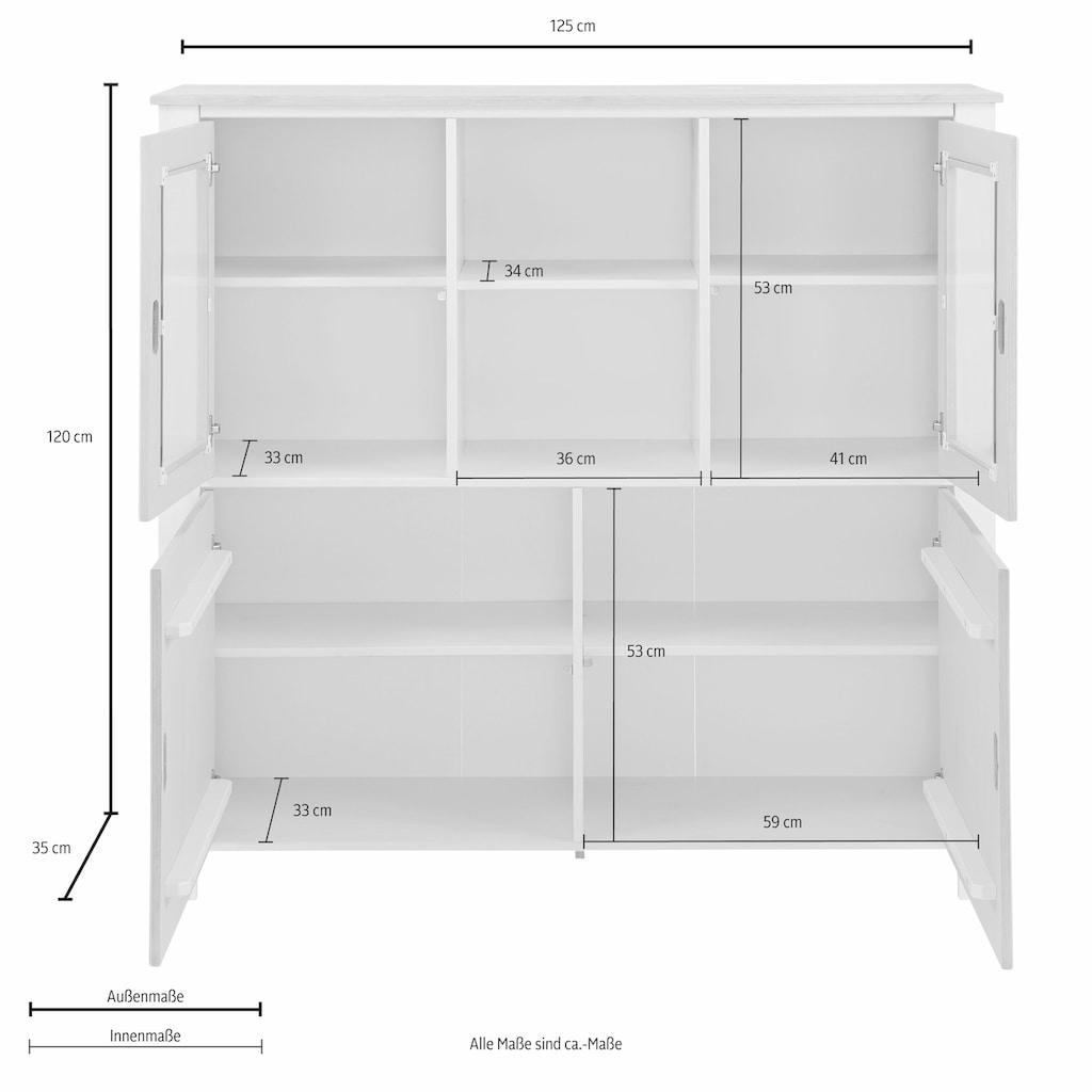 Home affaire Highboard »Madagaskar«, Breite 125 cm