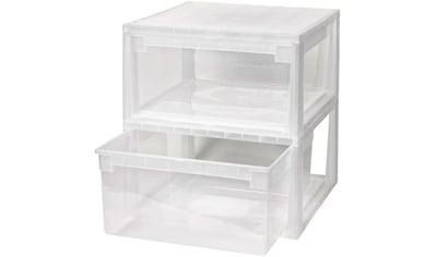 KREHER Aufbewahrungsbox »2x 23 Liter, mit Schubladen« 2er Set kaufen