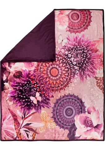 hip Plaid »Espen«, mit Mandala und Blumen kaufen