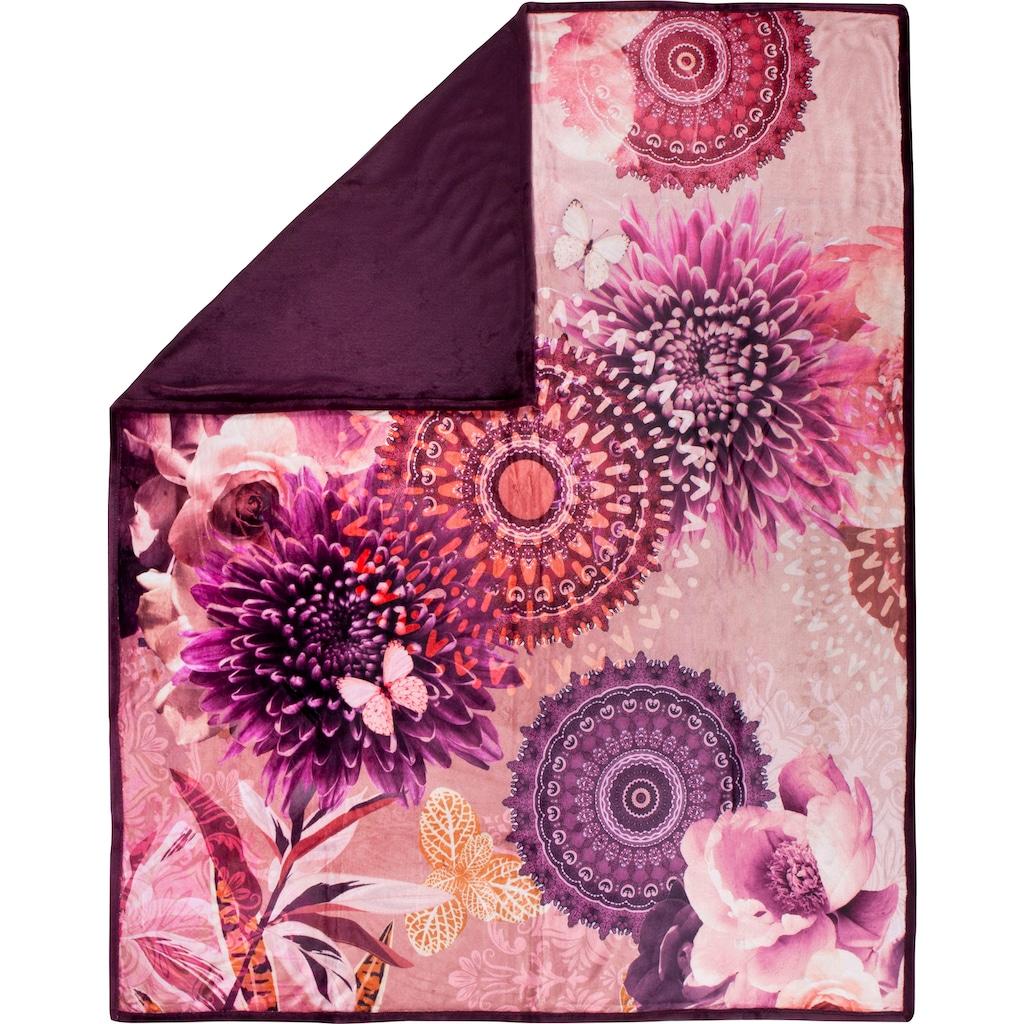 hip Plaid »Espen«, mit Mandala und Blumen