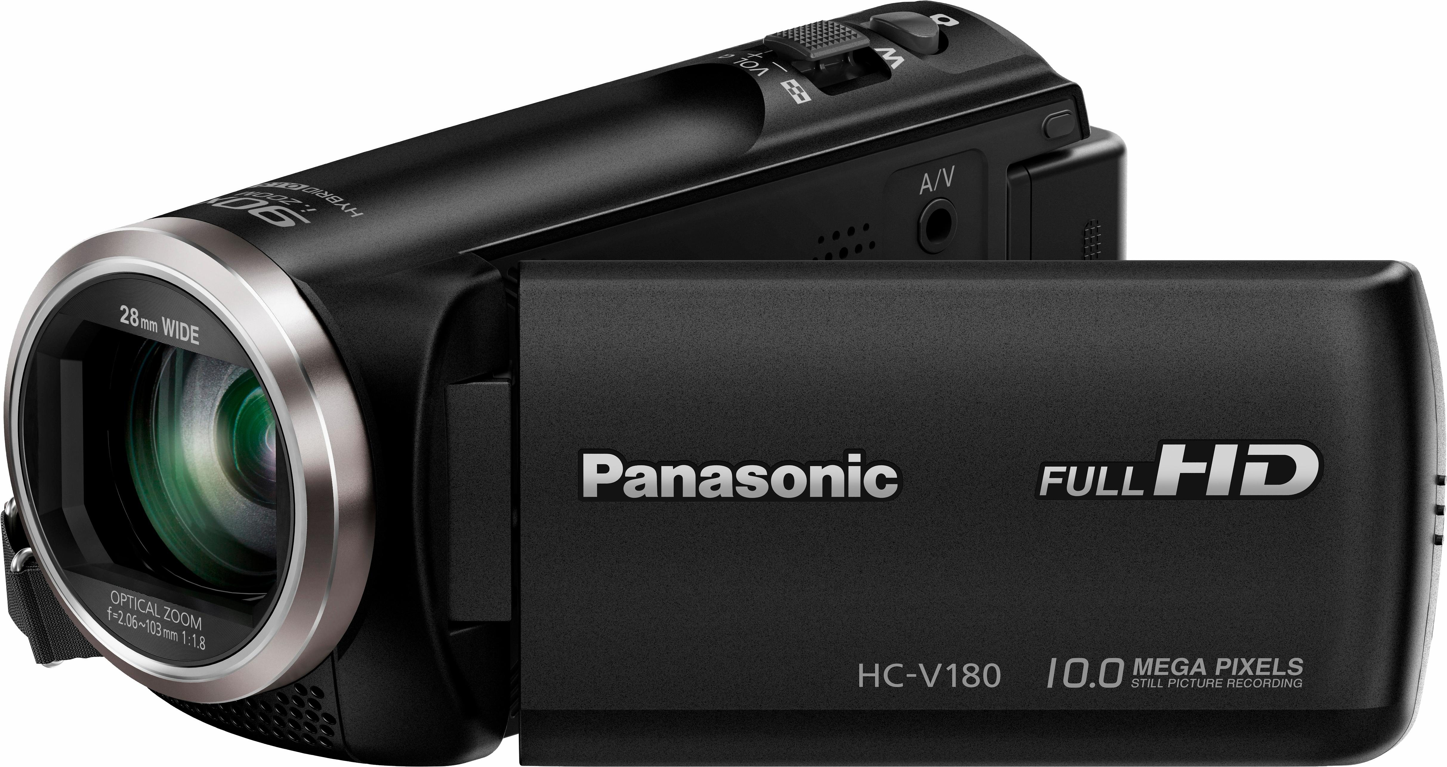 panasonic hc v180eg k camcorder full hd 50x opt zoom. Black Bedroom Furniture Sets. Home Design Ideas