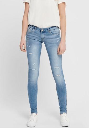 Only Skinny-fit-Jeans »ONLCORAL«, mit Destroyed-Effekten kaufen