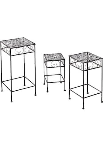 Home affaire Blumentisch, (3er-Set), Blumenhocker, aus Metall kaufen
