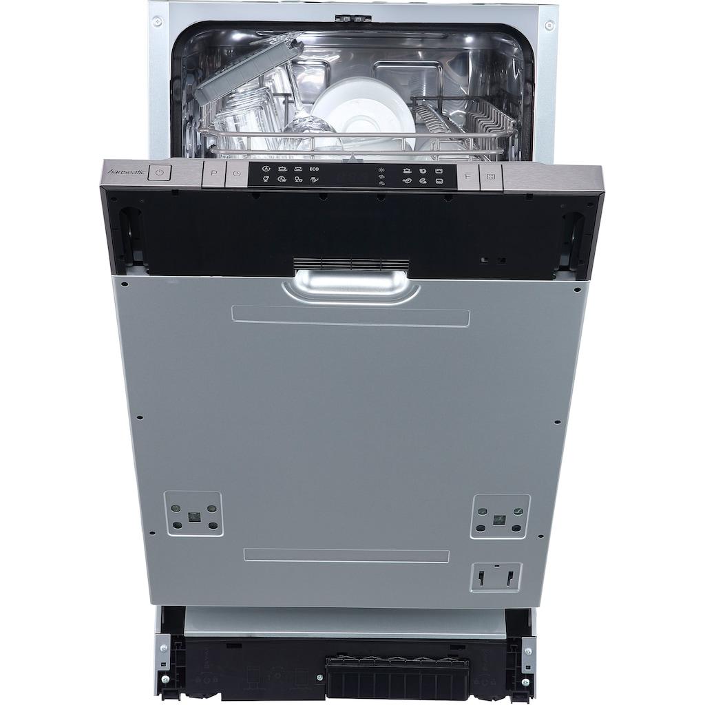 Hanseatic vollintegrierbarer Geschirrspüler »HGVI4582C10J7714DS«, HGVI4582C10J7714DS, 10 Maßgedecke