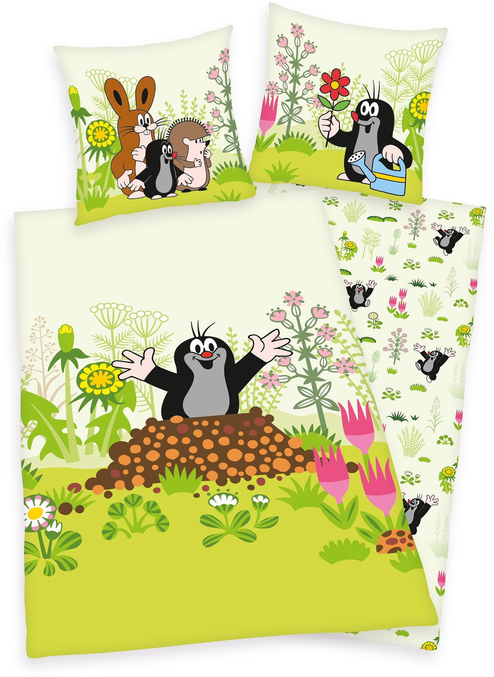 Kinderbettwäsche »Der kleine Maulwurf«, Diverse | Kinderzimmer > Textilien für Kinder > Kinderbettwäsche | Grün | Baumwolle | Diverse