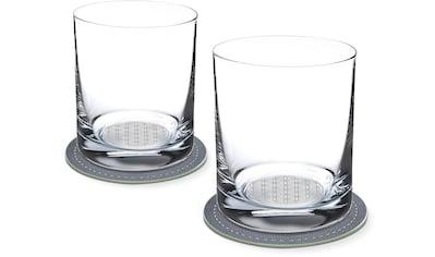 Contento Whiskyglas, (Set, 4 tlg., 2 Whiskygläser und 2 Untersetzer), Blume des... kaufen
