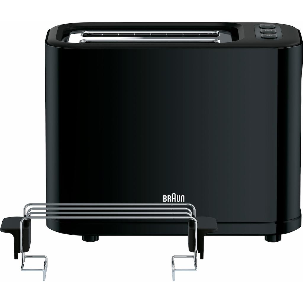 Braun Toaster »HT 3010 BK«, 2 kurze Schlitze, für 2 Scheiben, 1000 W