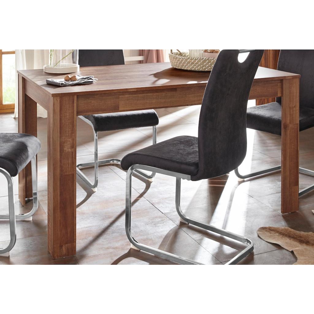 Homexperts Essgruppe »Bonnie«, Breite 140 cm mit Auszug und 4 Stühlen