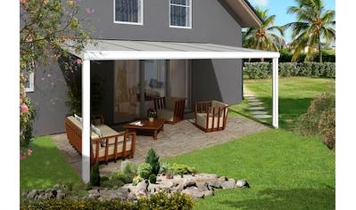 SKANHOLZ Terrassendach »Genua«, Breite: 541 cm, weiß kaufen