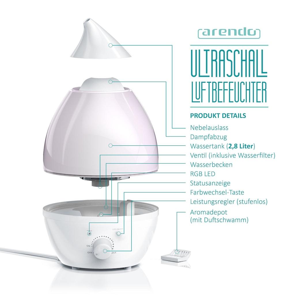 Arendo Ultraschall Luftbefeuchter mit LED Farbwechsel