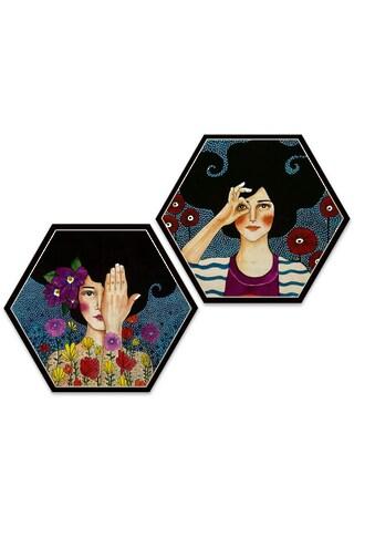 Wall-Art Mehrteilige Bilder »Hülya Augenblicke Holzbilder«, (Set, 2 St.) kaufen