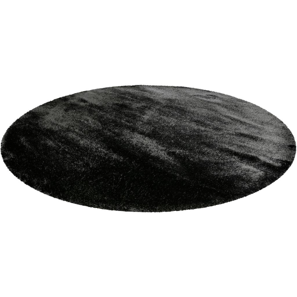 Wecon home Basics Hochflor-Teppich »Ella«, rund, 40 mm Höhe