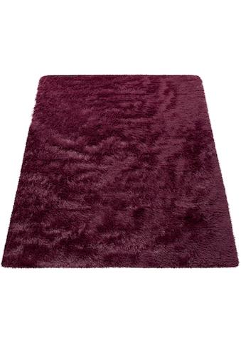 Paco Home Hochflor-Teppich »Silky 591«, rechteckig, 33 mm Höhe, Uni Farben, besonders... kaufen