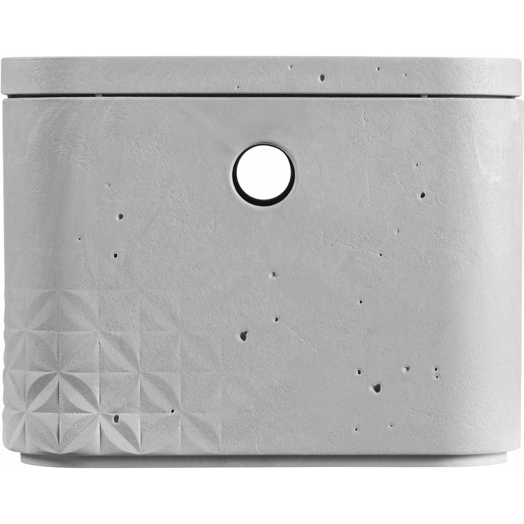 Curver Aufbewahrungsbox »BETON S«, (Set, 3 St.), stapelbar, je 4 Liter