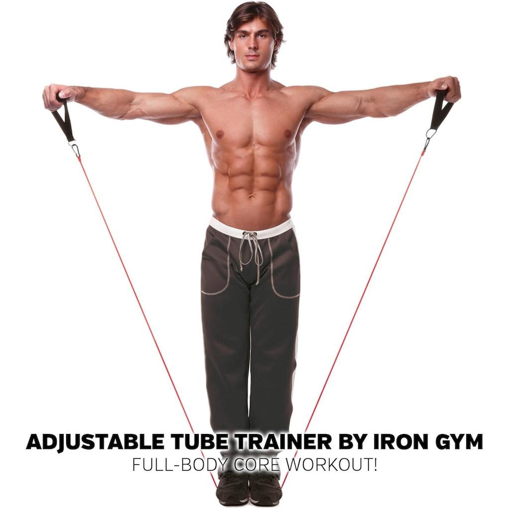 Iron Gym Widerstandsband »Iron Gym Adjustable Tube Trainer«, (Packung)