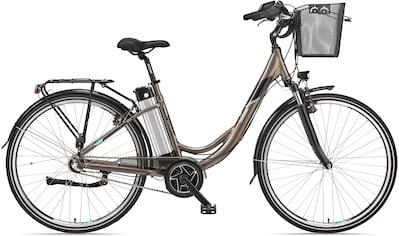 Telefunken E - Bike »Multitalent RC865«, 3 Gang Shimano Shimano Nexus 3 - Gang - Nabe Schaltwerk, Nabenschaltung, Mittelmotor 250 W (mit Fahrradkorb) kaufen