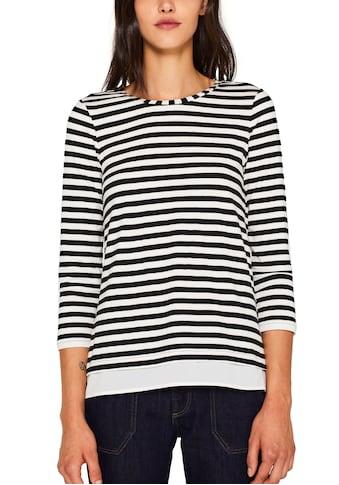 Esprit Collection Langarmshirt, mit Bluseneinsatz am Ärmel und am Saum kaufen