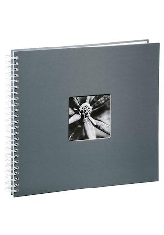 Hama Spiralalbum 36 x 32 cm, 50 weiße Seiten, Fotoalbum, grau kaufen