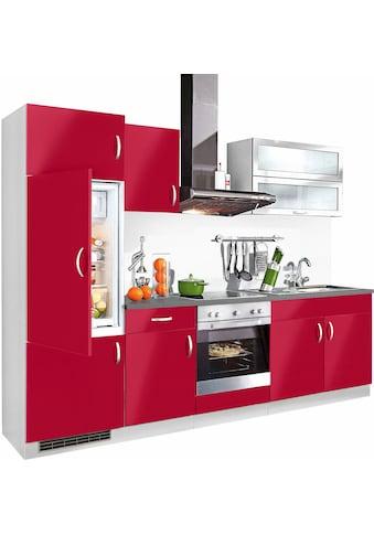wiho Küchen Küchenzeile »Amrum«, mit E - Geräten, Breite 270 cm kaufen