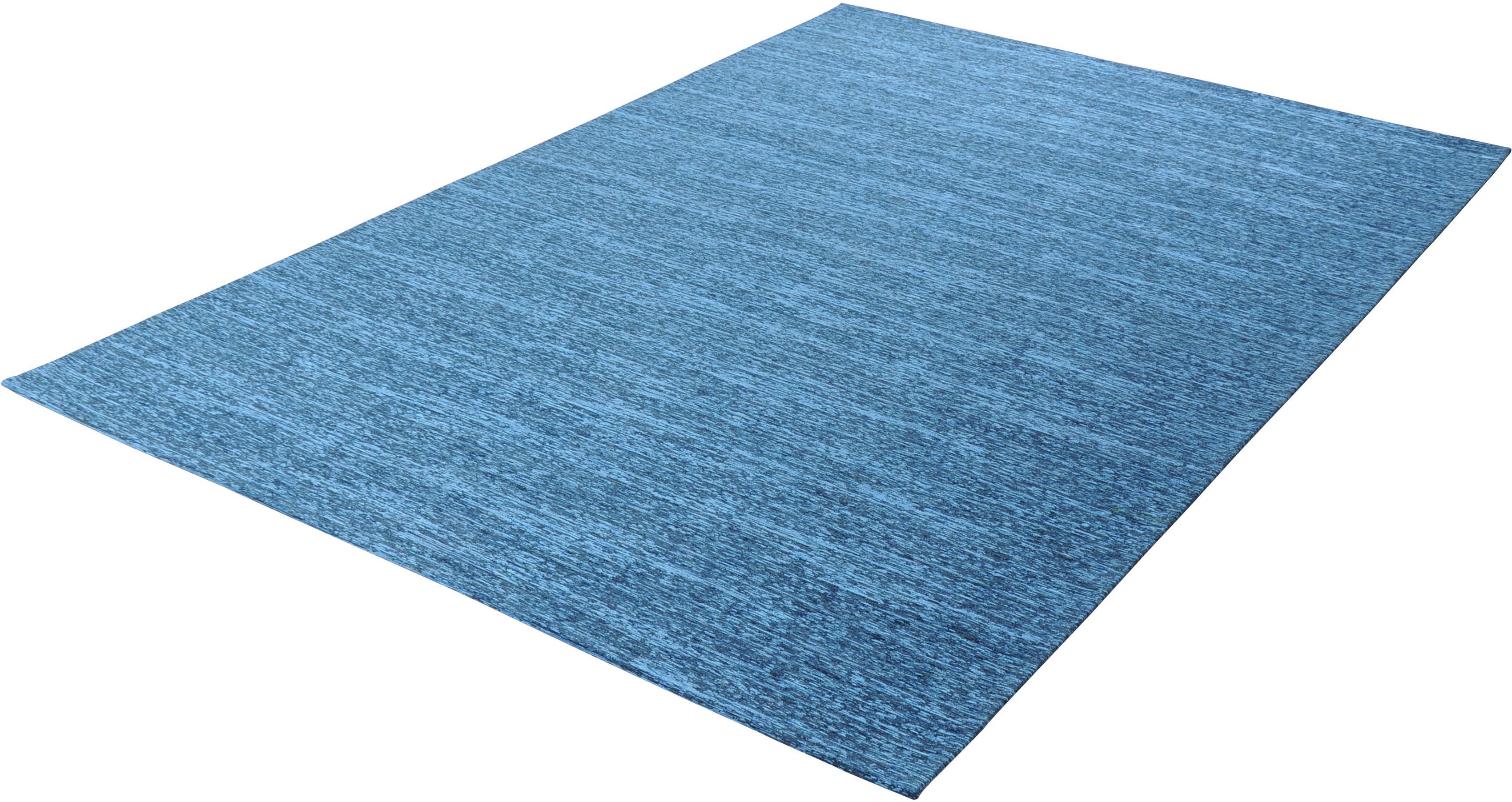 Teppich, »Kapstadt uni«, THEKO, rechteckig, Höhe 5 mm, maschinell gewebt | Heimtextilien > Teppiche > Sonstige-Teppiche | Blau | THEKO