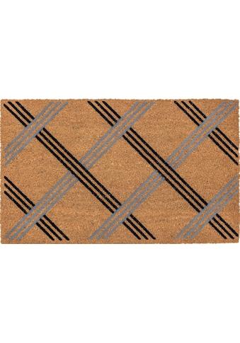 ASTRA Fußmatte »Coco Karo«, rechteckig, 14 mm Höhe, Schmutzfangmatte, Kokosmatte kaufen
