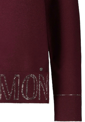 Monari Rundhalspullover, mit Schriftzug aus funkelndem Strass kaufen
