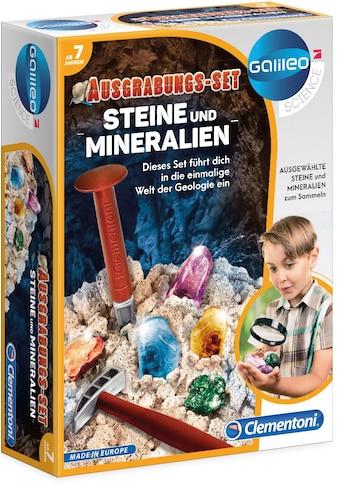 Clementoni® Experimentierkasten »Galileo Ausgrabungs-Set Steine und Mineralien«, Made... kaufen
