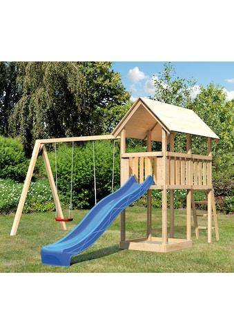 ABUKI Spielturm »Winnie 10«, BxT: 484x183 cm, mit Doppelschaukel und Rutsche kaufen