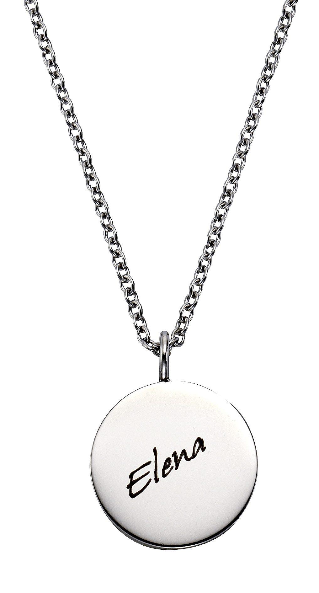 Firetti Kette mit Anhänger mit Gravur »rund, Gratis Gravur möglich« | Schmuck > Halsketten > Ketten mit Anhänger | Firetti