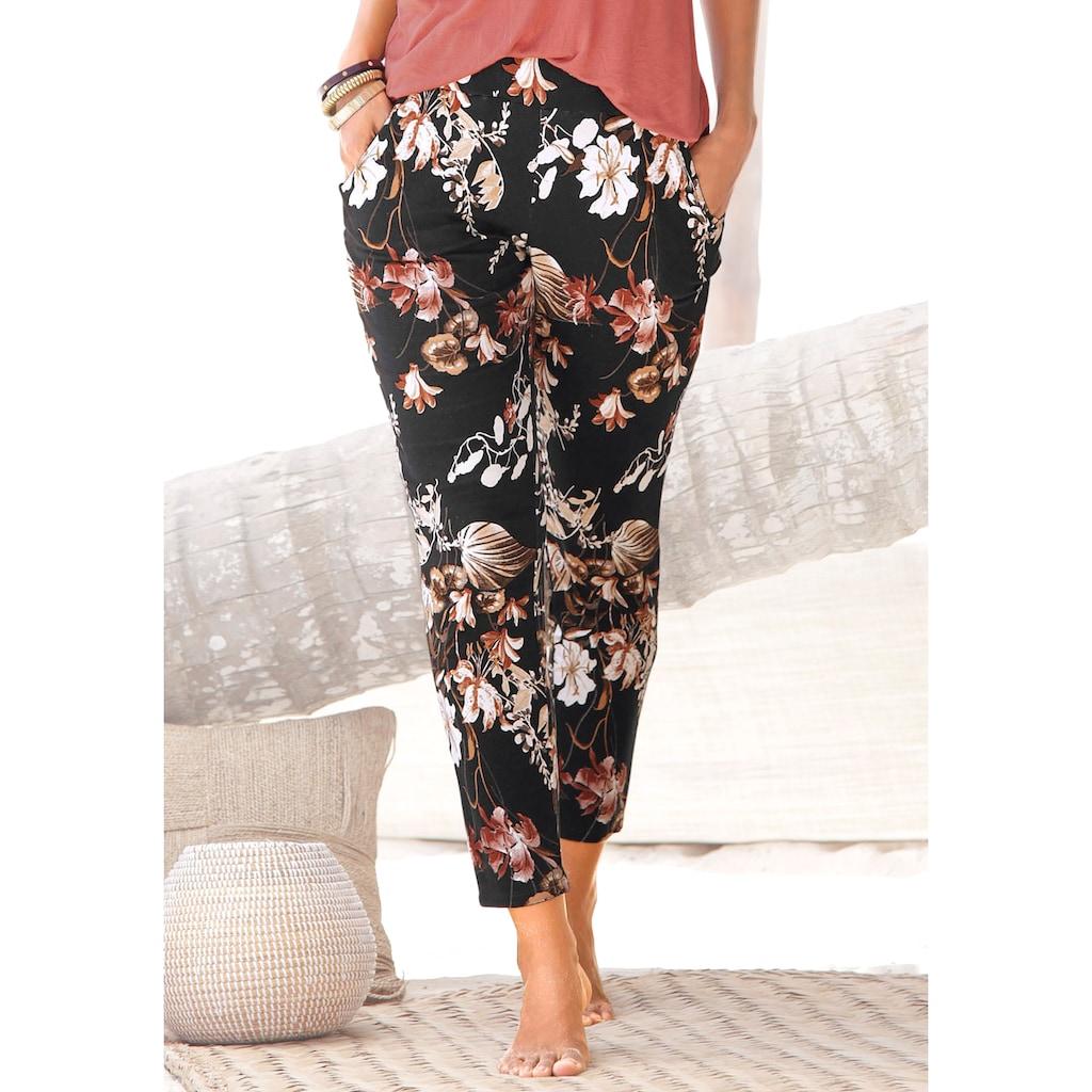 LASCANA Jerseyhose, mit Blumenprint