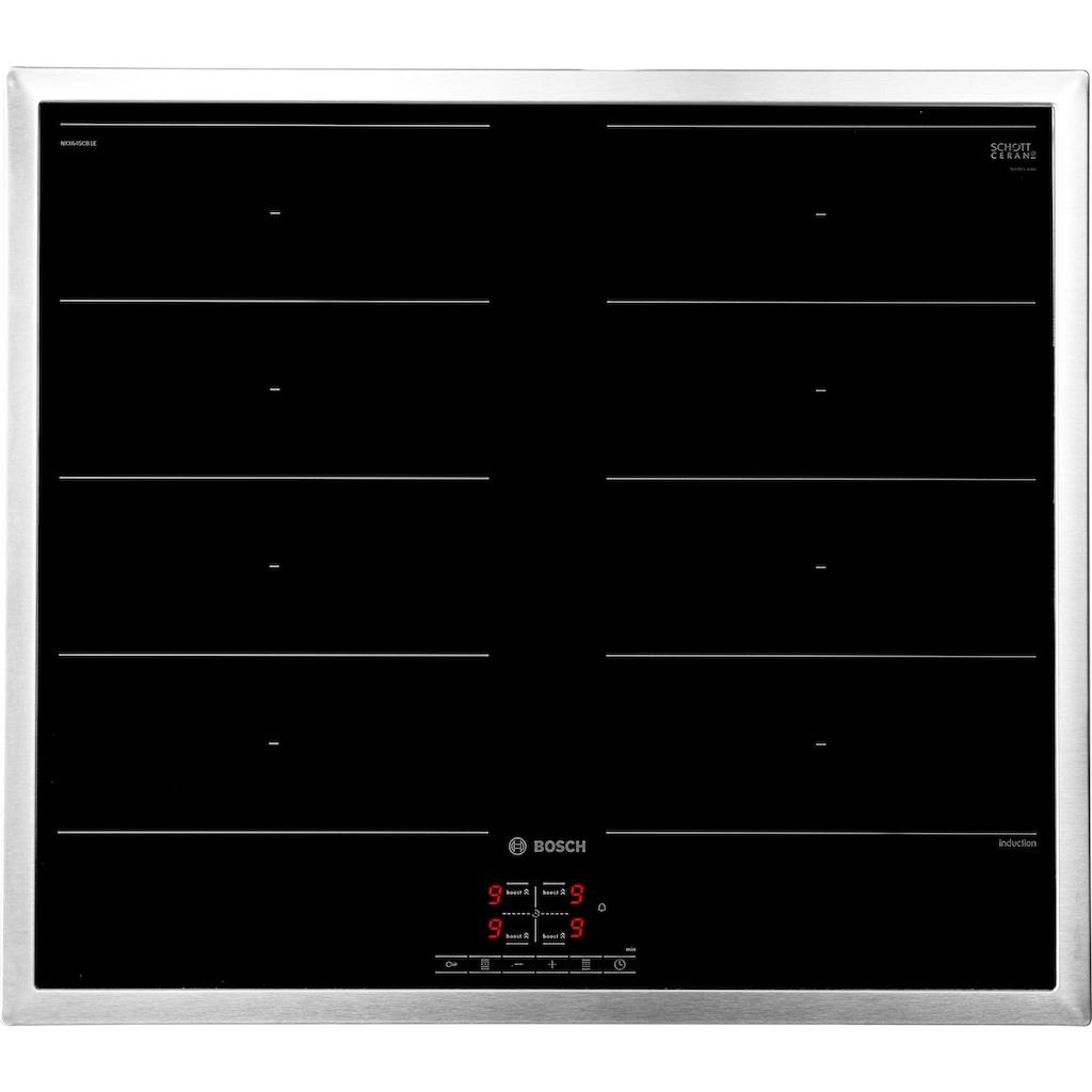BOSCH Flex-Induktions-Herd-Set »HND419OS60«, HEA513BS1, mit 1-fach-Teleskopauszug