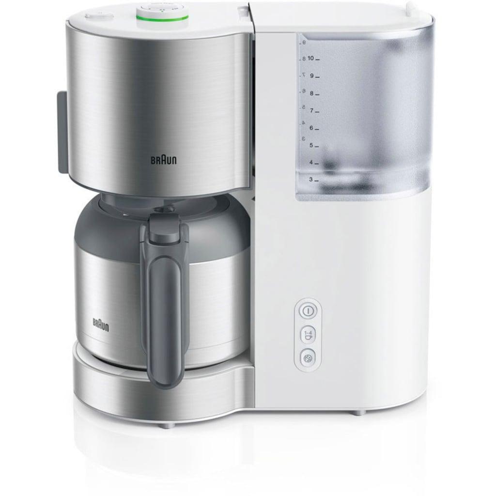 Braun Filterkaffeemaschine »ID Collection KF 5105 WH weiß«