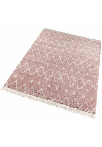 Hochflor - Teppich, »Calla«, freundin Home Collection, rechteckig, Höhe 35 mm, maschinell gewebt kaufen