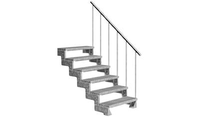DOLLE Außentreppe »Gardentop«, für Geschosshöhen bis 132 cm, Gitterroststufen 100 cm kaufen