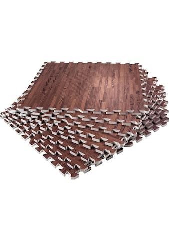 GORILLA SPORTS Bodenschutzmatte »Schutzmattenset mit acht Teilen Holzoptik Dunkel« kaufen