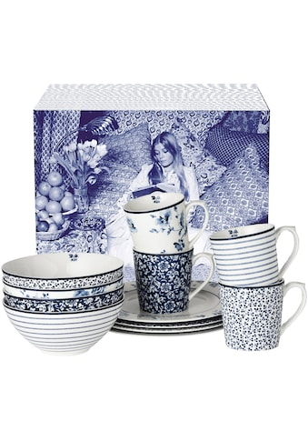 "LAURA ASHLEY BLUEPRINT COLLECTABLES Frühstücks - Set ""China Rose, Sweet Allysum, Floris, Candy Stripe"" (12 - tlg.), Porzellan kaufen"
