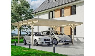 Skanholz Doppelcarport »Odenwald«, Leimholz-Nordisches Fichtenholz, 546 cm, natur kaufen