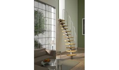 DOLLE Systemtreppe »Berlin«, Metallgeländer und  - handlauf, Birke, BxH: 64x270 cm kaufen