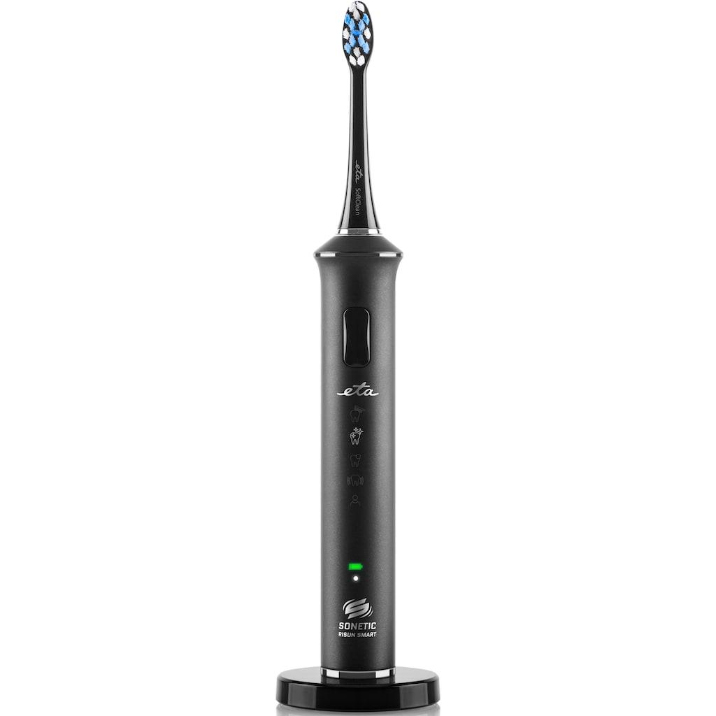 eta Schallzahnbürste »SONETIC SMART ETA770790000«, 3 St. Aufsteckbürsten, Die RISUN SMART APP bietet einen Überblick über die Zahnhygiene