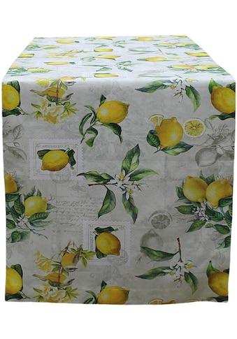HOSSNER - HOMECOLLECTION Tischläufer »32433 Zitrone« kaufen