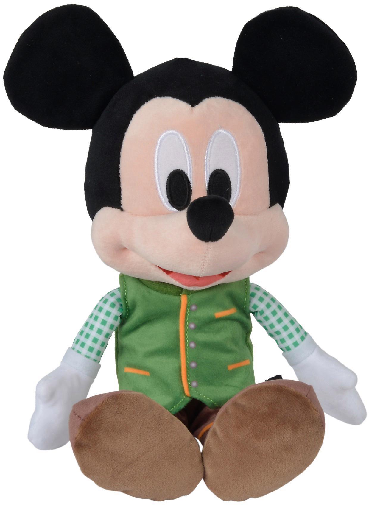Simba Plüschfigur, »Disney Lederhosen Mickey, Refresh, 25 cm« | Bekleidung > Hosen > Lederhosen | Mehrfarbig | Ab | SIMBA