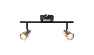 Brilliant Leuchten Croyden LED Spotrohr 2flg messing/schwarz kaufen
