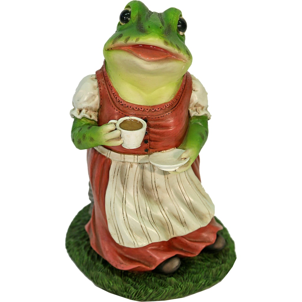 Casa Collection by Jänig Tierfigur »Frau Frosch im Kleid trinkt Kaffee«