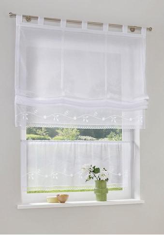 my home Scheibengardine »Idaho«, Fertiggardine, Mit Spitze, transparent kaufen